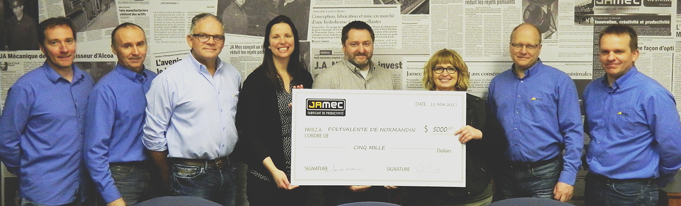 JAMEC fait un don de 5 000$ à la Polyvalente de Normandin - JAMEC donates $ 5,000 to the Polyvalente de Normandin
